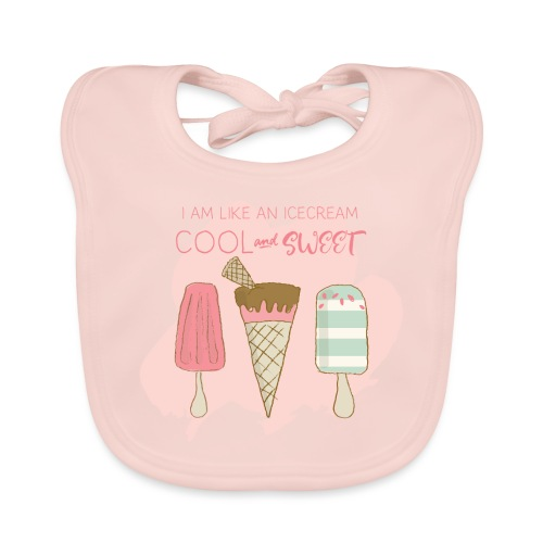 Icecream strawberry - Baby Organic Bib