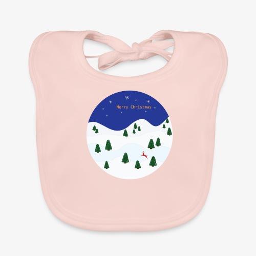 boule Noël bleue - Baby Organic Bib