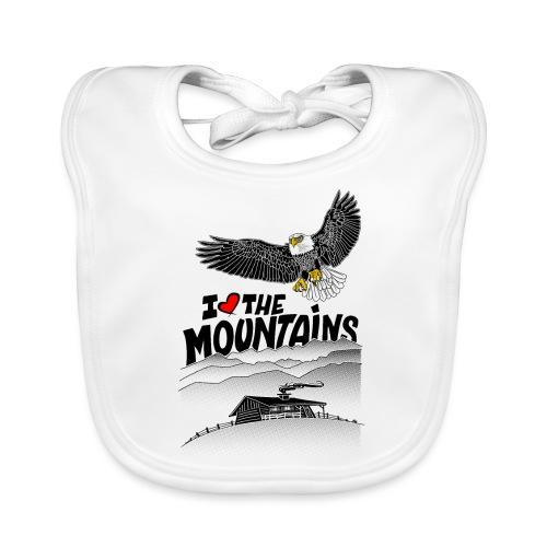 I love The Mountains Adelaar - Bio-slabbetje voor baby's