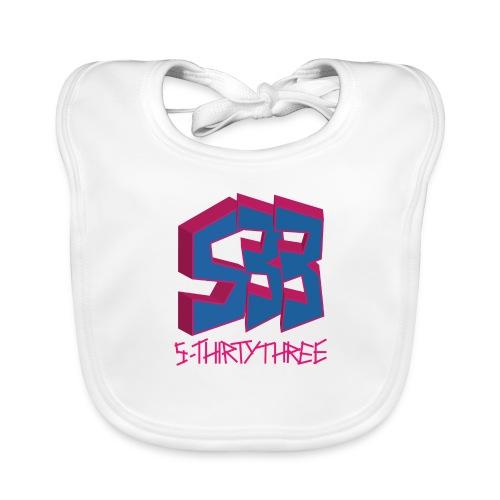 S33 Logo blaupink - Baby Bio-Lätzchen