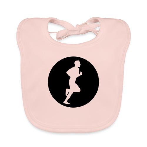Sportlershirt Logo mono - Baby Bio-Lätzchen