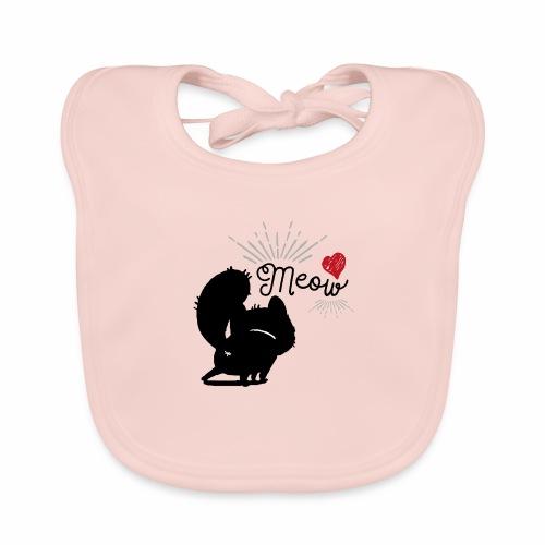 gatto meow - Bavaglino ecologico per neonato