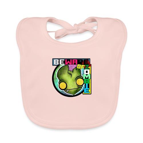 Beware of zombie - Babero de algodón orgánico para bebés