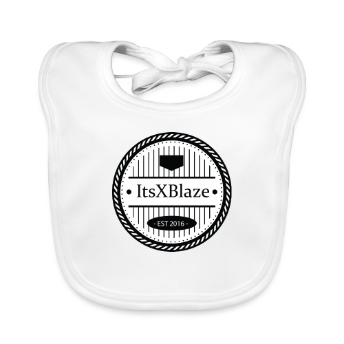 ItsXBlaze Logo 3 White V-Neck Option 2 - Bio-slabbetje voor baby's