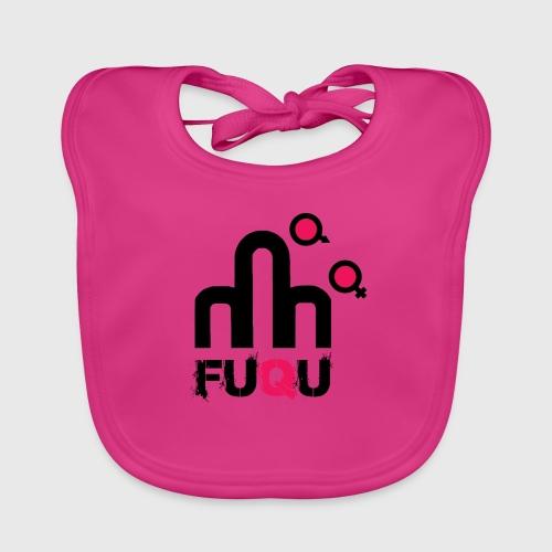 T-shirt FUQU logo colore nero - Bavaglino ecologico per neonato