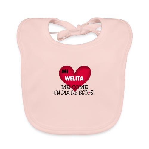 MI_WELITA_ME_COME_UN_DIA_DESTOs - Babero de algodón orgánico para bebés