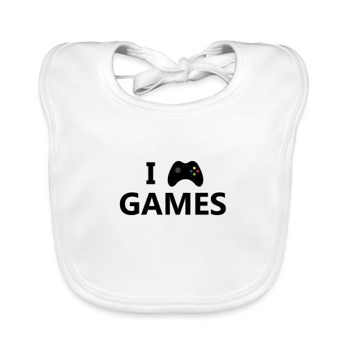 I Love Games 3 - Babero ecológico bebé