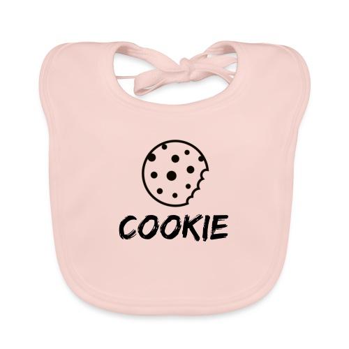 La galleta _-_ Negro _-_ galleta - Babero de algodón orgánico para bebés
