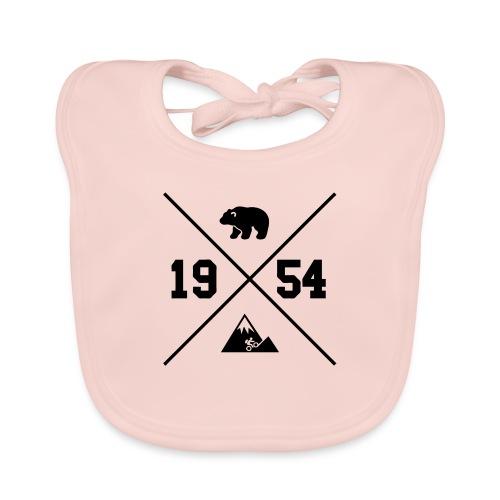 Karhuvuori -baseballhuppari - Vauvan luomuruokalappu