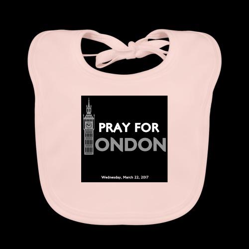 PRAY FOR LONDON - Bavoir bio Bébé