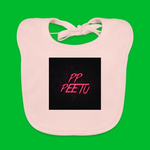 Ppppeetu logo - Vauvan luomuruokalappu