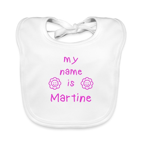 MARTINE MY NAME IS - Bavoir bio Bébé