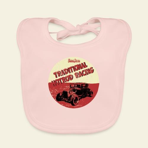 hotrod racing logo - Baby økologisk hagesmæk