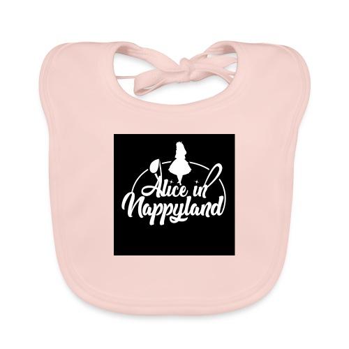 Alice in Nappyland TypographyWhite 1080 - Organic Baby Bibs