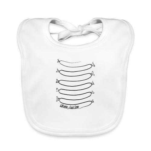 Wiener Illusion (schwarz auf weiß) - Baby Bio-Lätzchen