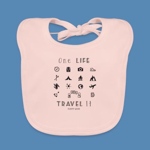 One Life, Travel It - Bavoir bio Bébé