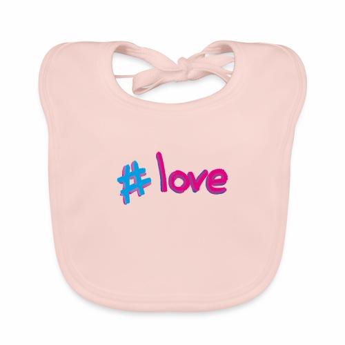 Hashtag love - Organic Baby Bibs