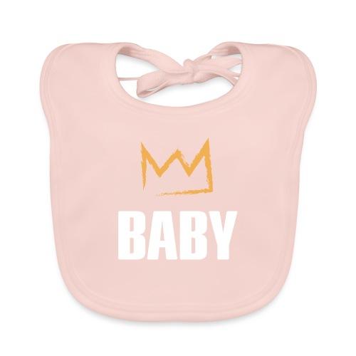 Baby mit Krone - Baby Bio-Lätzchen