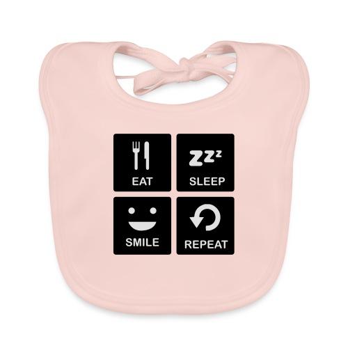 Eat Sleep Smile Repeat - Bio-slabbetje voor baby's