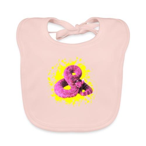 Pink Rattlesnake - Baby Bio-Lätzchen