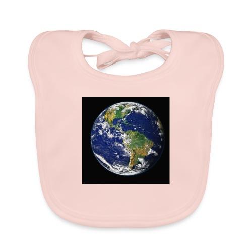 Wereld afdruk/print - Bio-slabbetje voor baby's