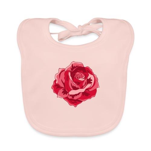 Rote Rose - Baby Bio-Lätzchen
