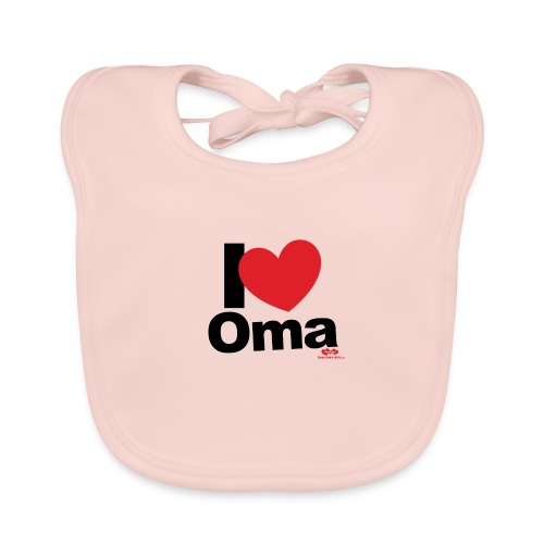 I Love Oma - Baby Bio-Lätzchen