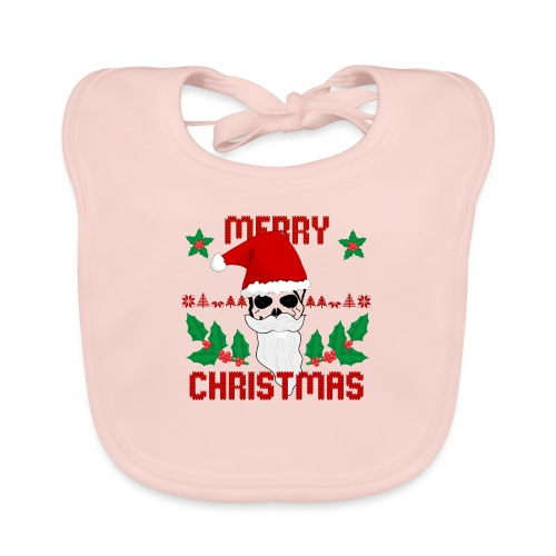 Merry Christmas Skull - Baby Bio-Lätzchen