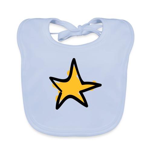 Star Line Drawing Pixellamb - Baby Bio-Lätzchen