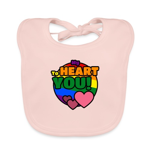 My Heart To You! T-shirts and clothes with love. - Organic Baby Bibs