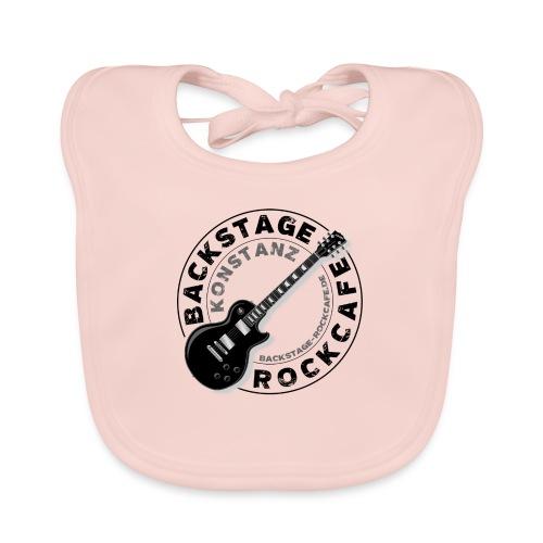 Backstage Logo einfach Schwarz - Baby Bio-Lätzchen