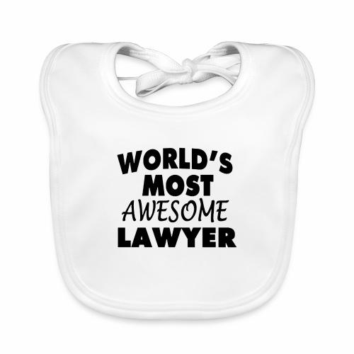 Black Design World s Most Awesome Lawyer - Baby Bio-Lätzchen