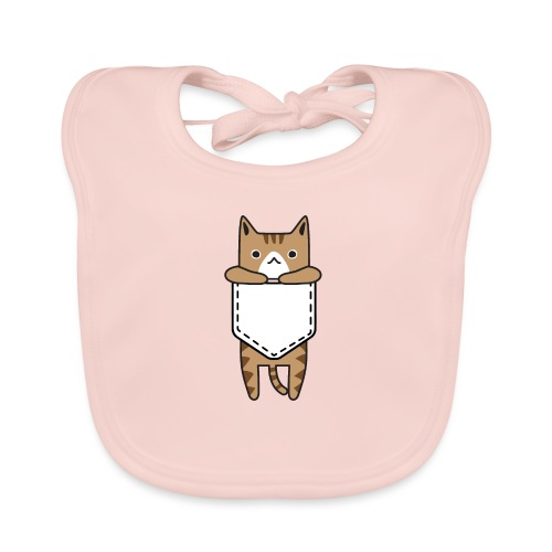 cat, kitty, cat in his pocket, love cat, cats - Organic Baby Bibs