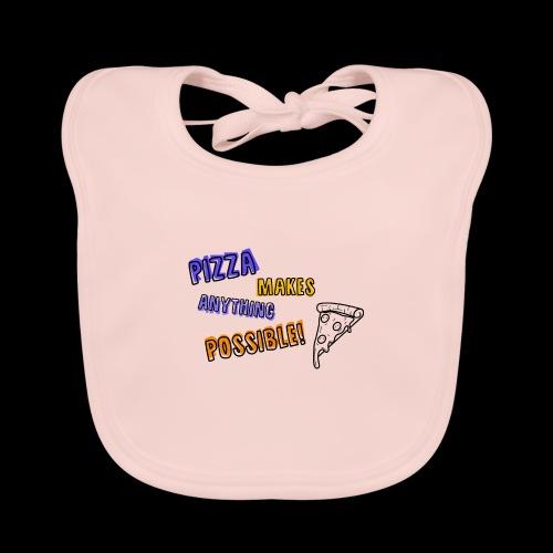Pizza makes anything possible! - Colorful Design - Bavaglino ecologico per neonato