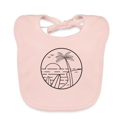 summer vibes - Babero de algodón orgánico para bebés