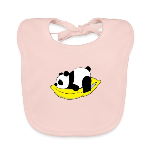 Panda Sleeping / Panda durmiendo - Babero de algodón orgánico para bebés