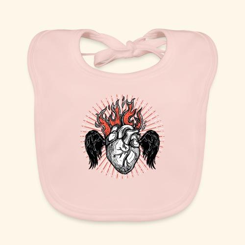 Corazón Sagrado. - Babero de algodón orgánico para bebés
