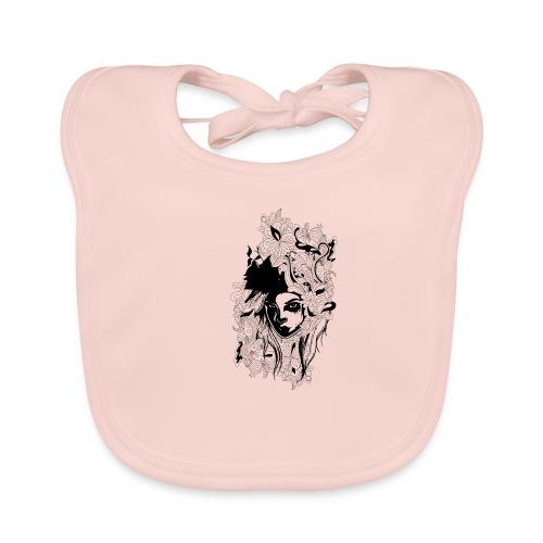 Akasacian tshirt design 611 - Babero de algodón orgánico para bebés