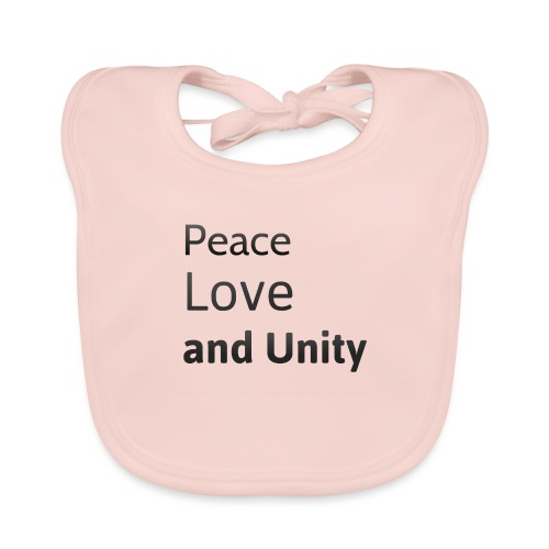 Peace love and unity - Organic Baby Bibs