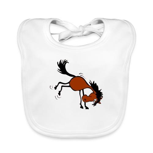 buckelndes Pferd - Baby Bio-Lätzchen