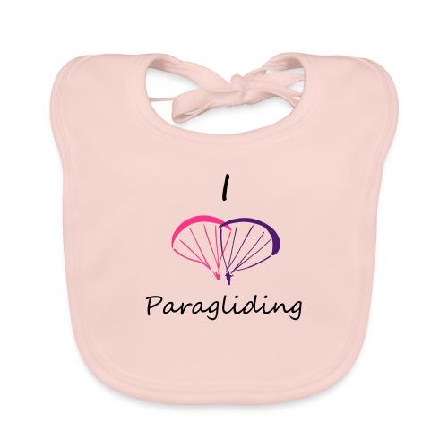 I Love Paragliding V2 - Baby Organic Bib