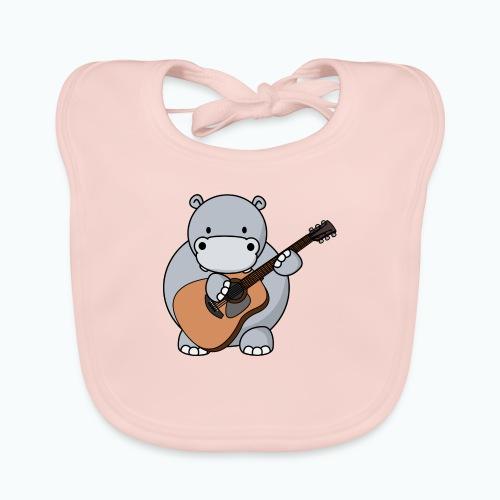 Henri Hippo Guitar - Appelsin - Ekologisk babyhaklapp