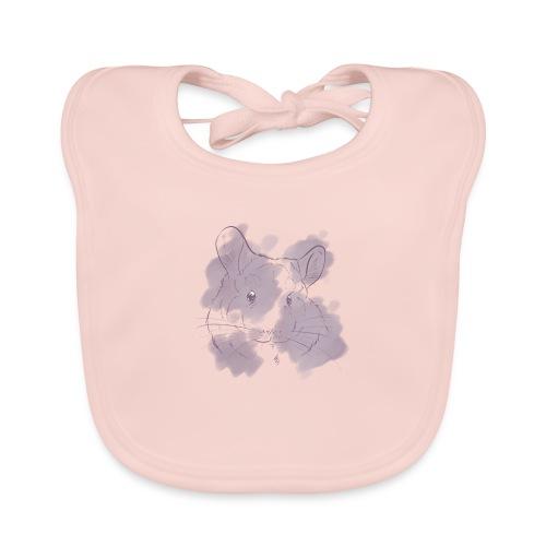 Violet splash chinchilla 2 - Vauvan luomuruokalappu