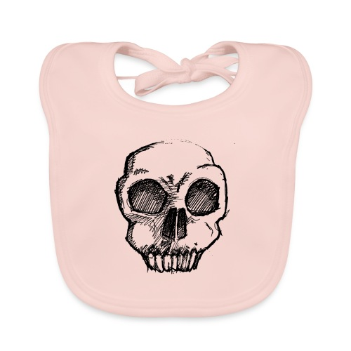 Skull sketch - Organic Baby Bibs