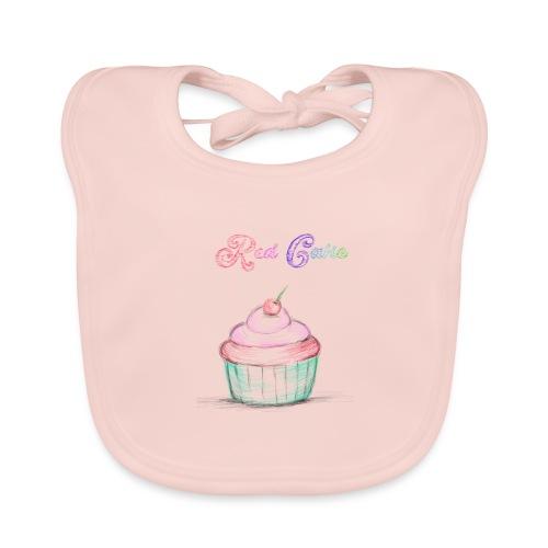 red cake - Babero de algodón orgánico para bebés