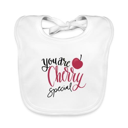 Cherry Special - Ekologisk babyhaklapp