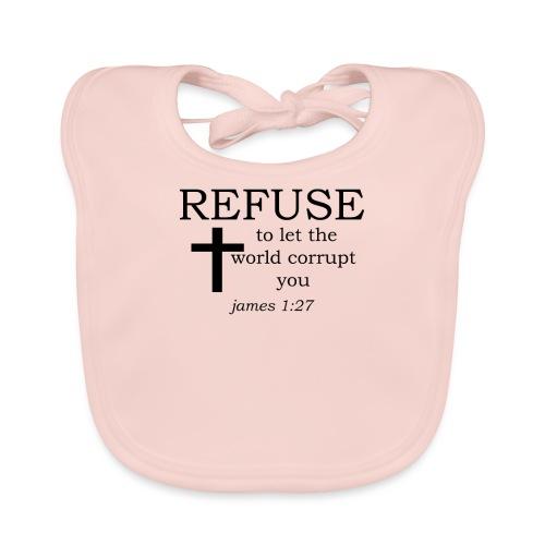 'REFUSE' t-shirt - Organic Baby Bibs
