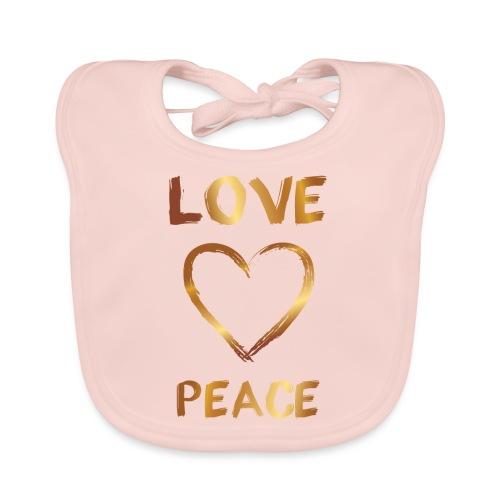 Love and Peace - Baby Organic Bib