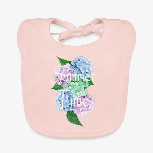 Summer Vintage Hydrangea floral by patjila - Baby Organic Bib