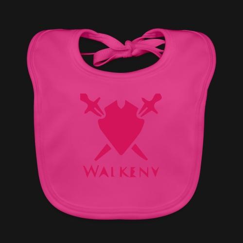 Das Walkeny Logo mit dem Schwert in PINK! - Baby Bio-Lätzchen